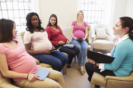 natal: Pregnant Women Meeting At Ante Natal Class