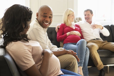 ivf: Couples In Waiting Room Of Ante Natal Clinic
