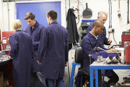apprentice: Busy Interior Of Engineering Workshop Stock Photo