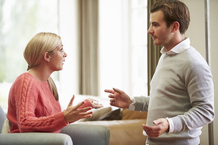 Young Couple Having Argument At Home photo