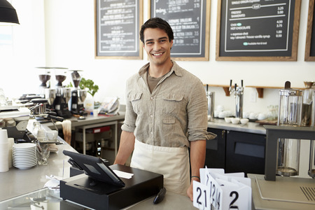 retail: Male Owner Of Coffee Shop