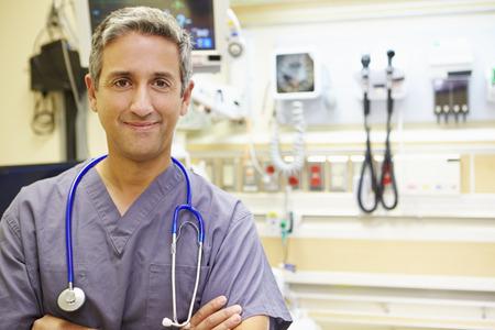 emergency room: Portrait Of Male Doctor In Emergency Room
