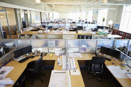 Empty Modern Open Plan Office Foto de archivo