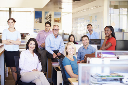 Portrait Of Businesspeople In Modern Open Plan Office 免版税图像 - 31047504