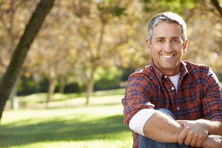 Portrait Of Hispanic Man In Countryside