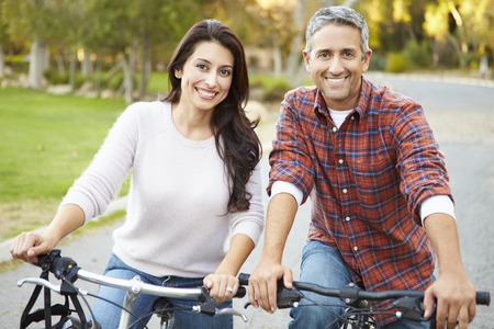 Couple On Cycle Ride In Countryside photo