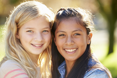 11: Portrait Of Two Pretty Girls In Countryside