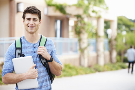 Portrait Of Male University Student Outdoors On Campus Stock Photo - 31054434