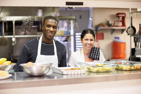 shelter: Portrait Of Kitchen Staff In Homeless Shelter