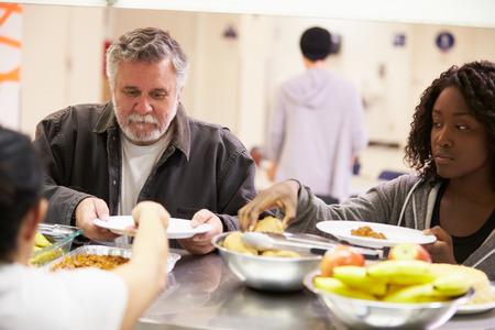 ホームレスの避難所で料理キッチン 写真素材