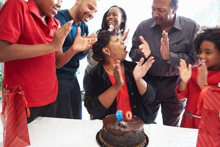Family Celebrating 60th Birthday Together photo