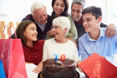 Family Celebrating 70th Birthday Together photo