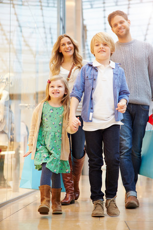 Children On Trip To Shopping Mall With Parents photo