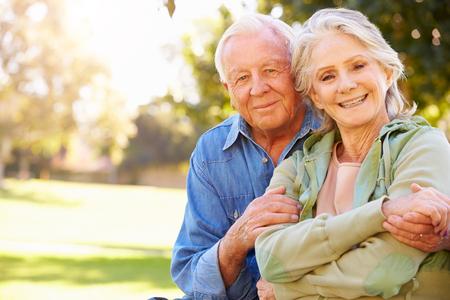 Outdoor Portrait Of Loving Senior Couple photo