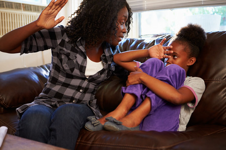 family problems: Mother Being Physically Abusive Towards Daughter At Home