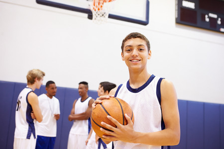 Portrait Of High School Basketball Player