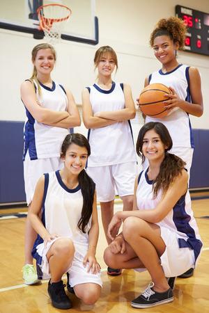 baloncesto chica: Miembros De colmo femenino del equipo de baloncesto Escuela