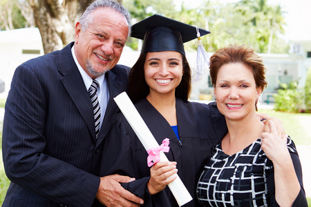 mother board: Hispanic Student And Parents Celebrate Graduation