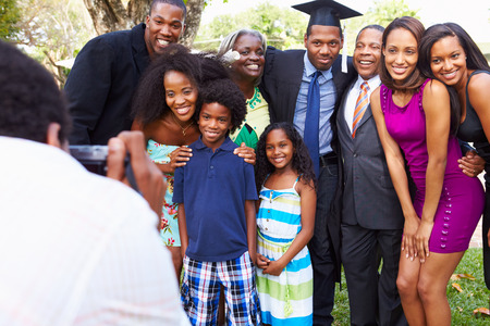 african student: African American Student Celebrates Graduation Stock Photo