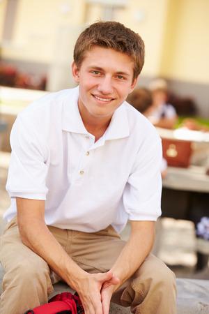 Portrait Of Male High School Student Wearing Uniform photo