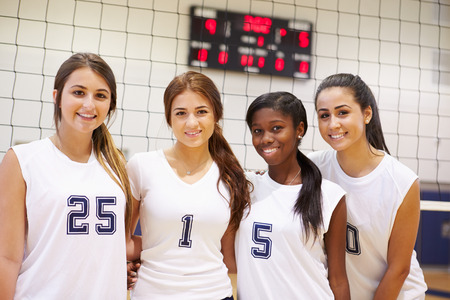 team sports: Members Of Female High School Sports Team