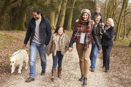 Multi Generation Family On Countryside Walk photo