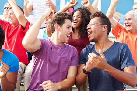 people clapping: Audience Cheering At Outdoor Concert Performance Stock Photo