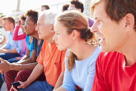 Audience Watching Outdoor Concert Performance photo