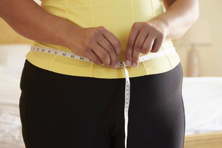 Close-up van zware Vrouw die Taille