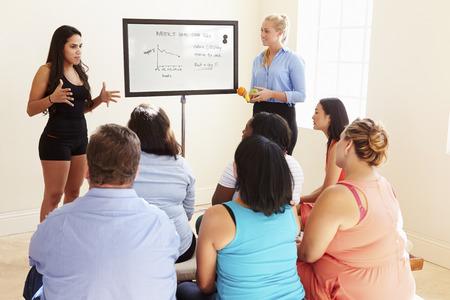 obesidad: Instructor de acondicionamiento f�sico Abordar las personas con sobrepeso En Dieta Club de