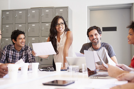 multi cultural: Designers Meeting To Discuss New Ideas Stock Photo