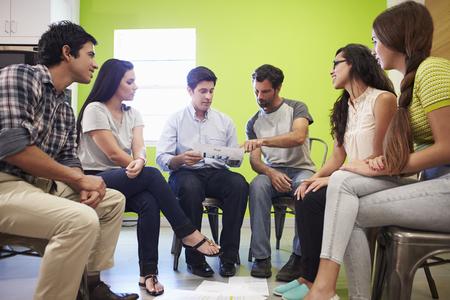 hispanic: Group Of Hispanic Designers Meeting To Discuss New Ideas