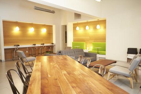 desk area: Empty Relaxation Area In Design Studio