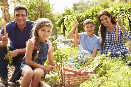 trabajando en casa: Familia trabaja en la asignaci�n Juntos