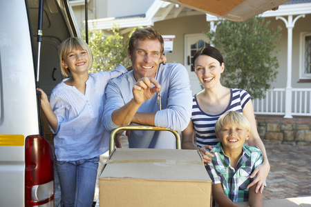 family moving house: Family moving house