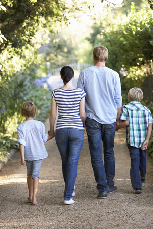 walk in: Family on country walk