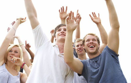 Young people at music festival photo
