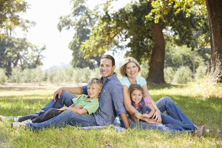 Family in the country photo