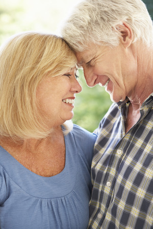 older couple: Senior couple outdoors Stock Photo