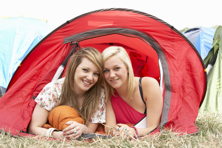 lesbian girls: Young friends on camping trip