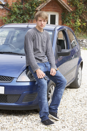 british man: Young man with car