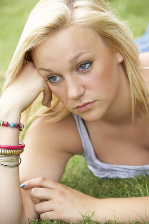 17 year old: Teenage girl outdoors Stock Photo