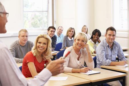 Senior tutor teaching class photo