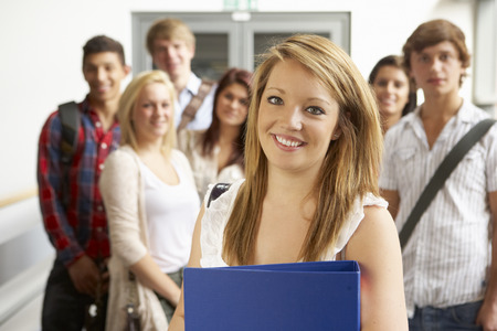 late teens: Students in college Stock Photo