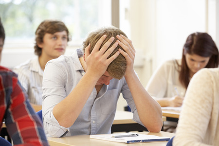 struggling: Student struggling in class