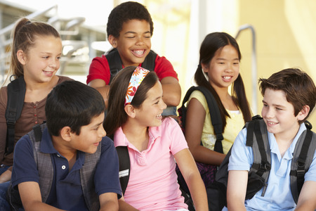 ethnic children: Pre teen children in school