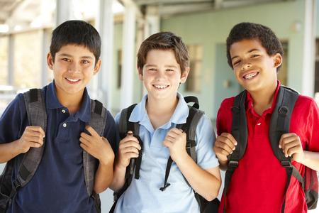 pre teen: Pre teen boys at school