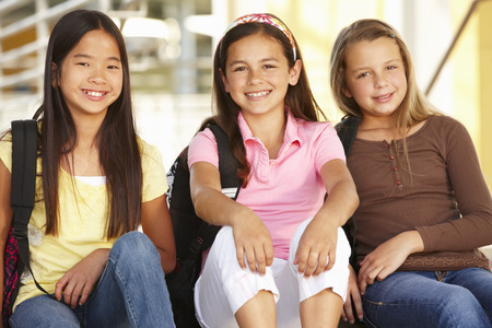 pre teen girl: Pre teen girls in school