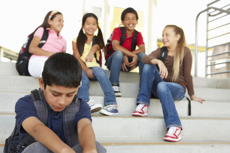Boy being bullied in school