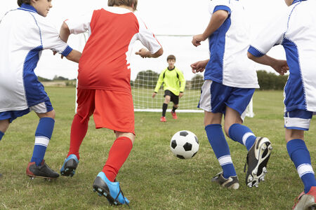 little league: Junior 5 a side teams playing football